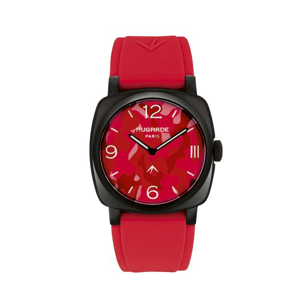 Montre Camouflage Rouge Augarde Monceau