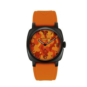 Montre Camouflage Orange Augarde Monceau
