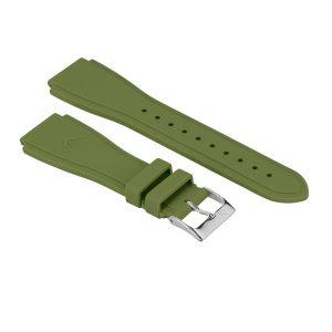 bracelet interchageable silicone large kaki