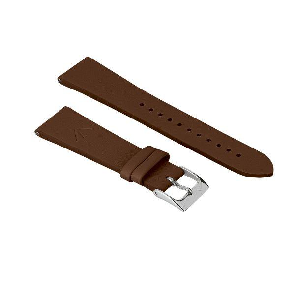 bracelet interchangeable cuir marron
